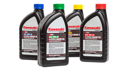 kawasaki cycle engine oil small engines lawn mower engines offered in 4 formulas color coded caps and labels k tech engine oil is formulated to keep your kawasaki engine operating at its highest performance